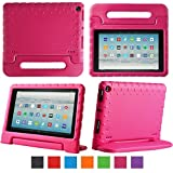 eTopxizu Tablet Case for All-New Amazon Fire HD 10 2017 - Light Weight Shock Proof Convertible Handle Kid-Proof Cover Kids Case for All-New Fire HD 10(7th Generation, 2017 Release), Rose Pink