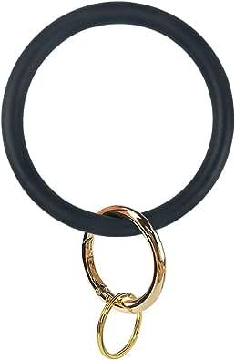 Silicone Bangle Key Ring Bracelet Key Rings, Round Keyring Circle Key Ring Holder for Women Girls Ideal Gifts