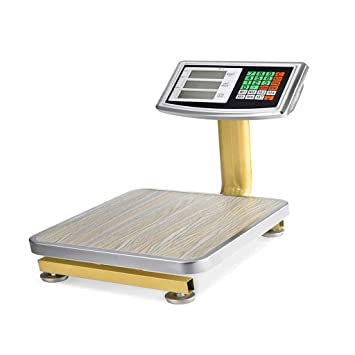 ZNND Báscula Electrónica , Pantalla De Retroiluminación Digital LED Precio Industrial Cocina Que Pesa 60 Kg Tabla Necesidades Diarias Fruta Comercial: ...