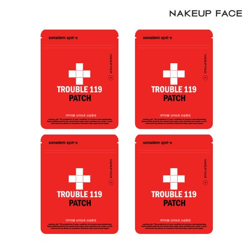 Price comparison product image Nakeup Face Trouble 119 Patch 3 Sizes, 29 Counts, 4 Sheets in a Set