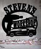 Corvette Work Shop Garage Sign 23.5 x 22.25 Personalized Metal Sign - Metal Wall Art