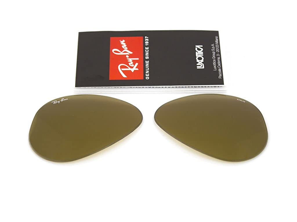 1370a22f702 Ray Ban replacement lenses RB3025 Aviator large Metal GENUINE 55 ...