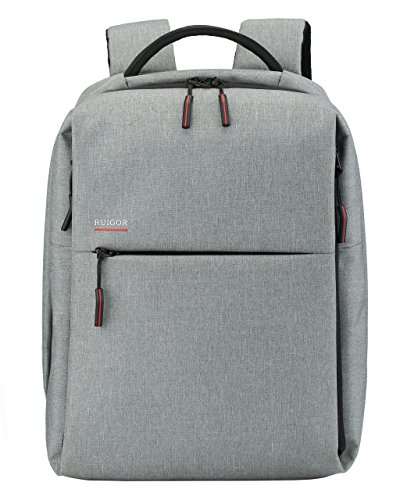 SWISS RUIGOR CITY 56 Backpack (Light Gray) with USB Port and water repellent materials by Ruigor