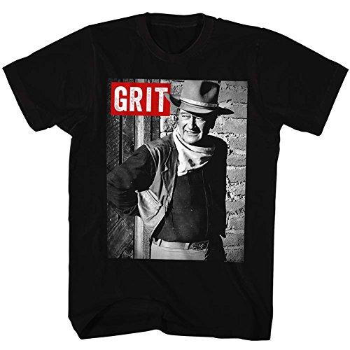 John Wayne - Mens Grit T-Shirt, Size: X-Large, Color: Black (John Wayne Size)