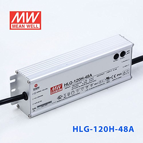 Meanwell HLG-120H-48A Power Supply - 120W 48V 2.5A - IP65 - Adjustable Output