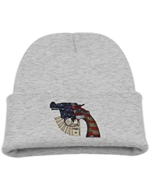 USA Flag Handgun BabysCute Knitted Hat