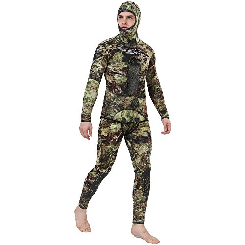 Realon Wetsuit 5mm Full Spearfishing Suit Camo Scuba