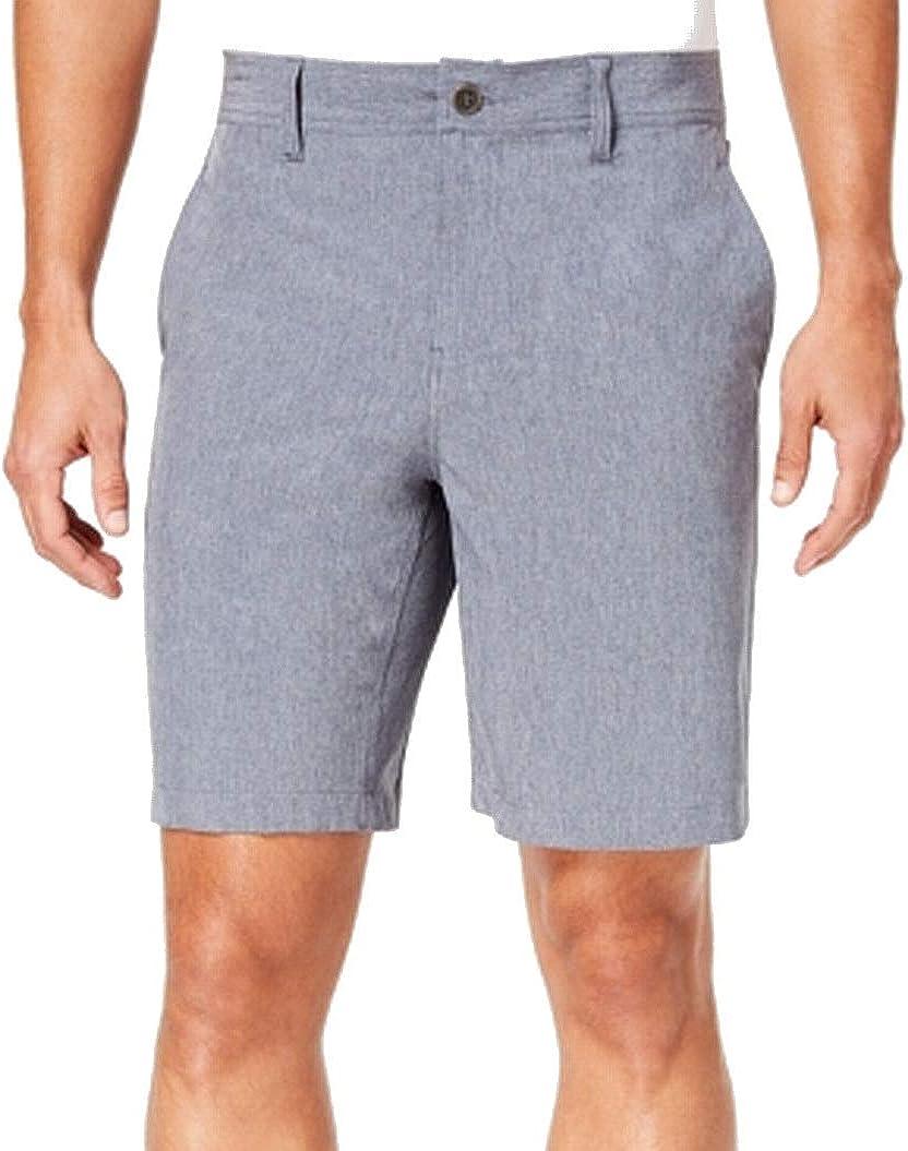 32 DEGREES Mens Flat Front Khaki Chino Stretch Shorts Blue 38