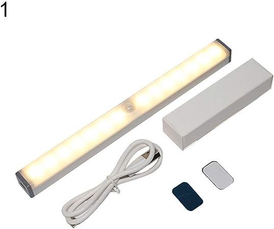 REDAPP Barra de luz LED Sensor de Movimiento infrarrojo magnético ...