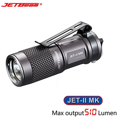 Flashlight,OVERMAL New Portable JETbeam JET-II MK Cree XP-L HI 510 Lumens Waterproof LED ()