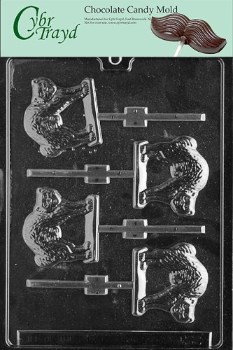 Cybrtrayd Life of the Party H022 Halloween Cat Lolly Chocolate Candy Mold in Sealed Protective Poly Bag Imprinted with Copyrighted Cybrtrayd Molding Instructions