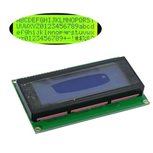 Solu ® 2004 20x4 Character LCD Display Module Hd44780 Controller//lcd Module for Arduino 20 X 4, Black on Green, Based on the Popular Hd44780 Controller// 2004 204 20x4 Character LCD Display Module Hd44780 Controller Green Blacklight - Alphanumeric Lcd Display