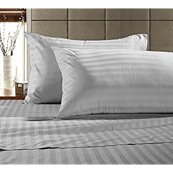 Genial Chateau Home Hotel Collection   Luxury 500 Thread Count 100% Egyptian Cotton  Damask Stripe Deep
