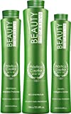 Brazilian Hair Botox Keratin Maintenance - Plastica Capilar by Beauty Progress - Set of 3 - Shampoo (500ML) Reconstructor (1L) Keratin (500ML) 10+ Applications