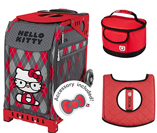 Zuca Geek Chick Sport Insert Bag & Red Frame w Lunchbox and Seat (Skating Chick)