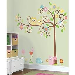 RoomMates RMK1439SLM Scroll Tree Peel & Stick Wall Decal MegaPack