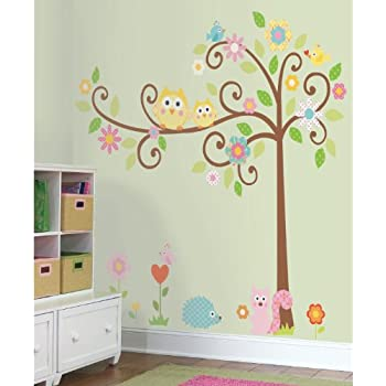 Amazoncom WallStickersUSA Wall Sticker Decal Beautiful Tree - How to get vinyl lettering to stick to textured walls
