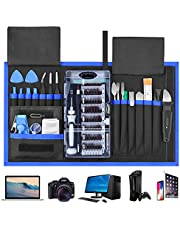 85 in 1 Precision Screwdriver Set,FUJIWAY Magnetic Screwdriver Set with 56 Bits Driver Kit,Professional Repair Tool Kit for iPad, iPhone, Tablets, Laptops, PC, Watches,Glasses with Portable Bag