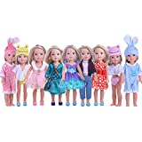 ZWSISU Cute Doll Clothes for American Girl Dolls:- 5sets Clothes for 14.5inch Wellie Wisher Dolls