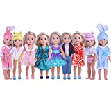 CUTE Doll Clothes for American Girl Dolls:- 5sets clothes for 14.5inch Wellie Wisher Dolls