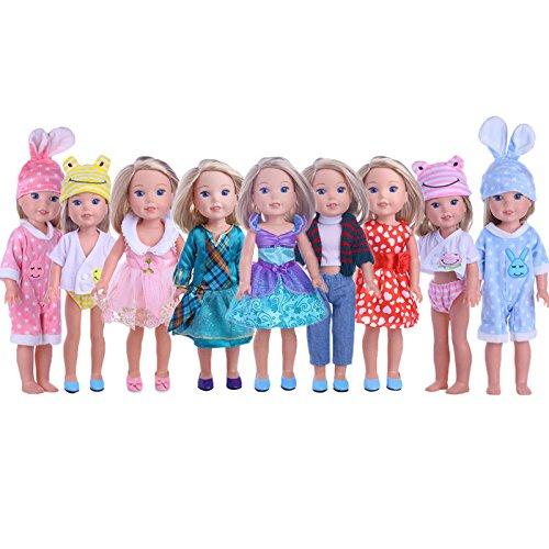 ZWSISU Cute Doll Clothes for American Girl Dolls:- 5sets