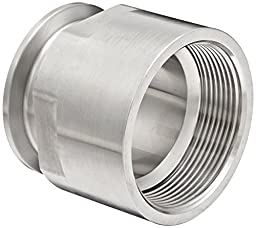 Dixon 22MP-R200 Stainless Steel 316L Sanitary Fitting, Clamp Adapter, 2\
