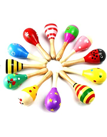 Home Trend Mark Pair Of Maracas Shakers Rattles Sand Hammer Percussion Instrument Musical Toy For Kid Children Ktv Party Game Quality First