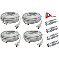 ACELEVEL 4PK RG59 PREMIUM UL LISTED 100FT CAB FOR SDI NIGHT-OWL SYSTEMS WHITE COLOR