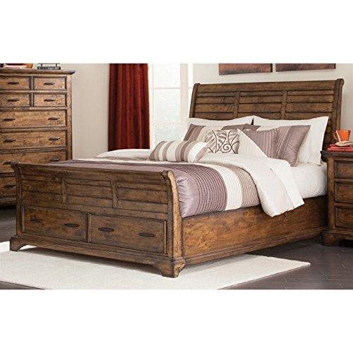 - Coaster 203891KE-CO Elk Grove King Sleigh Bed with Drawers