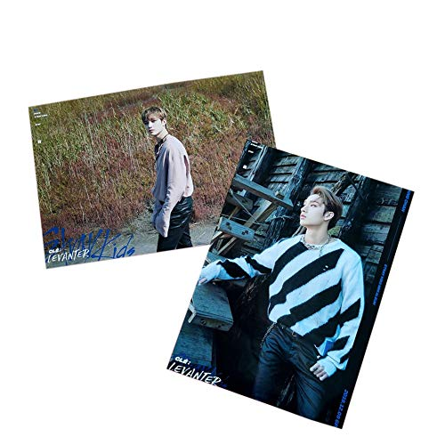 """Youyouchard 2PCS/Set Kpop Stray Kids Mini Album""""Clé : Levanter"""" Poster Wall Stickers, Official Supported Poster for Fans, 30×21cm(Bang Chan)"""