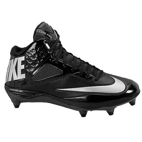 Nike Mens Lunar Code Pro 3/4 D Black/Anthracite/Metallic Silver 13.5 D - Medium