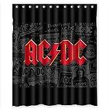 "Custom Waterproof Bathroom Shower Curtain 60"" x 72"" Simple Rock Band AC-DC Logo"