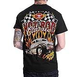 Hot Rod American Classic Mens Black T-Shirt Short Sleeve (Small, Black)