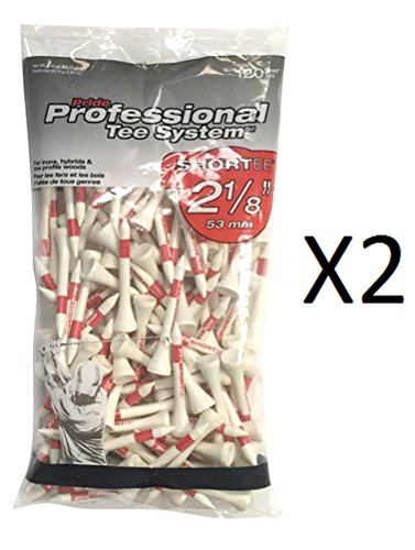 """Pride Professional PTS Tees 2 1/8"""" long, 120 tees per bag, ,"""