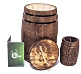 Wooden barrel, Wine barrel decor, Wood cutlery caddy, Kitchen canister, Wood barrel centerpiece, Utensil holder, Decorative wood jar & Wedding decorations. Small whiskey barrel, Toothpick holder