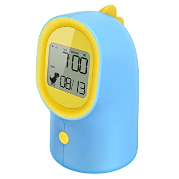 Holife Despertador Infantil, Despertador Digital para Niño con Luz Nocturna, Función Snooze/Siesta