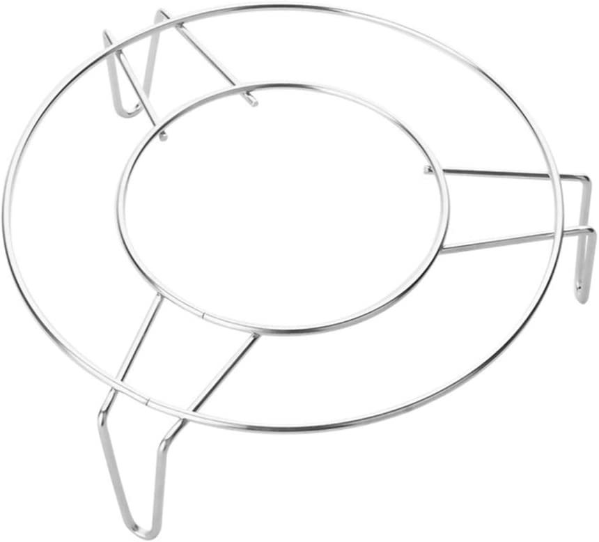 DOITOOL Steamer Rack Stainless Steel Round Trivet Rack Stand Pressure Cooker Steam Rack for Baking Canning Cooking Steaming Lifting Food in Pots 7x3 Inch Silver