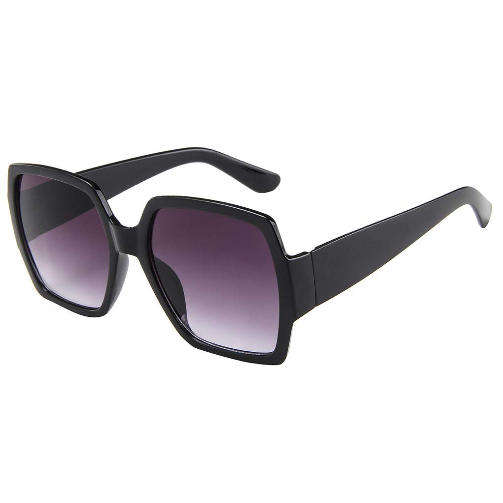 PENGY Unisex Square Sunglasses Retro Sunglasses Fashion Sunglass Acetate Eyeglassee Clear Lens