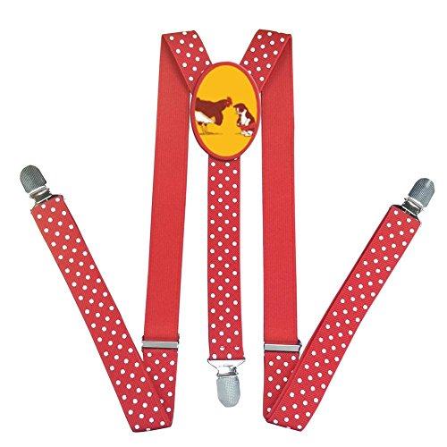 Boys Chicken And Cat Adjustable Elastic Solid Color Suspenders Kor Kids Y Back Clip On Tuxedo Suspenders 3 Clips (Halloween Chicken Fingers)