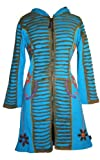 323 RJ Patch Funky Cotton Bohemian Long Jacket [Turquoise; S/M]