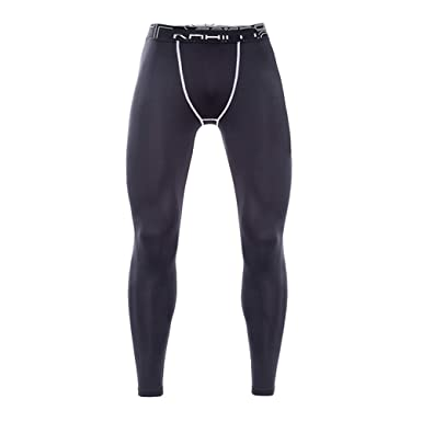 c5813f97cb59d8 Zhhlaixing Mens Thermal Compression Base Layer Leggings Tights Fleece Lined  Sport Fitness Gym Workou Pants