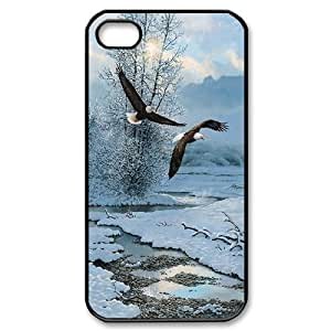 Unique Phone Case Pattern 9Cute Eagles- For Iphone 4 4S case cover