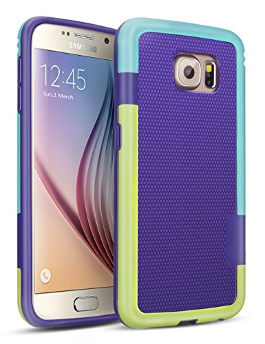 - Galaxy S6 Case, TILL(TM) 3 Color Hybrid Dual Layer Shockproof Case [Extra Front Raised Lip] Soft TPU & Hard PC Bumper Protective Case Cover for Samsung Galaxy S6 S VI G9200 GS6(Purple/Blue/Green)