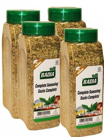 Badia Complete Seasoning 1.75 pound jar. Pack of 4
