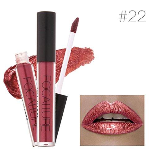 XEDUO FOCALLURE New Fashion Waterproof Long-Lasting Matte Liquid Lipstick Cosmetic Sexy Lip Gloss Kit for Women (22#)