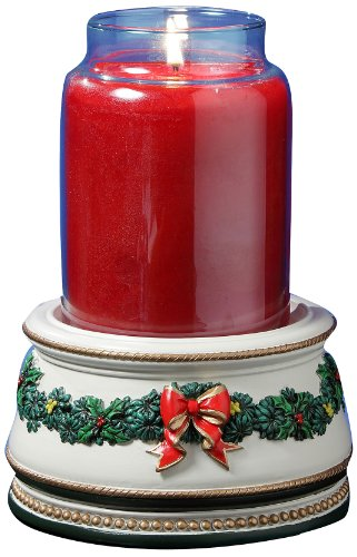 - San Francisco Music Box Factory Holiday Treasures Musical Jar Candle Holder Music Box
