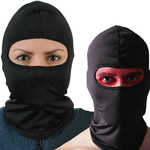 Amasawa Balaclava Ski Mask (2 pack) Bicycle Premium Face Mask for Outdoors Riding Tactics Go Fishing Dust proof Cold Motorcycle Headgear Mask