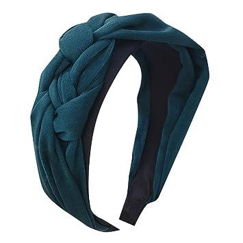 Women Girls Wide Plastic Headband Hair Band Hoop Satin Solid Headwear 10 Colors