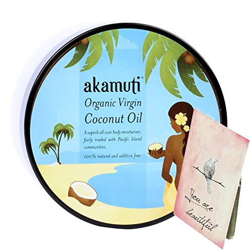 AKAMUTI Kokosöl Coconut Oil - Feuchtigkeitspflege für trockene Haut und trockenes Haar - Reich an Nährstoffen - Beruhigt irritierte Haut
