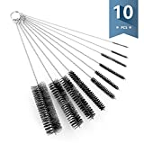 fish pipe - Sweese Cleaning Brush with Nylon Bristles - Great for Pipes, Water Bottles, Reusable Straws - 10 PCS, Black